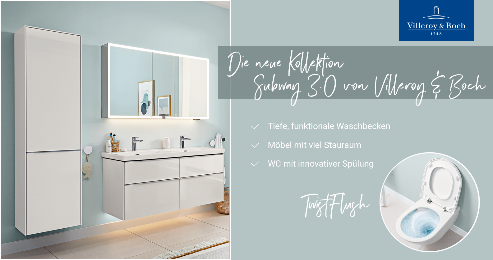 Villeroy & Boch - Subway 3.0 designed for life bei xTWOstore