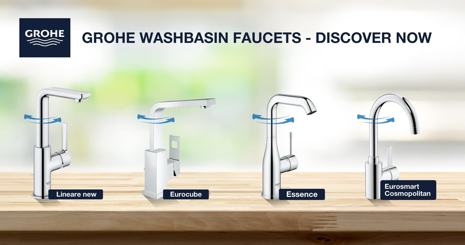 GROHE top faucet series