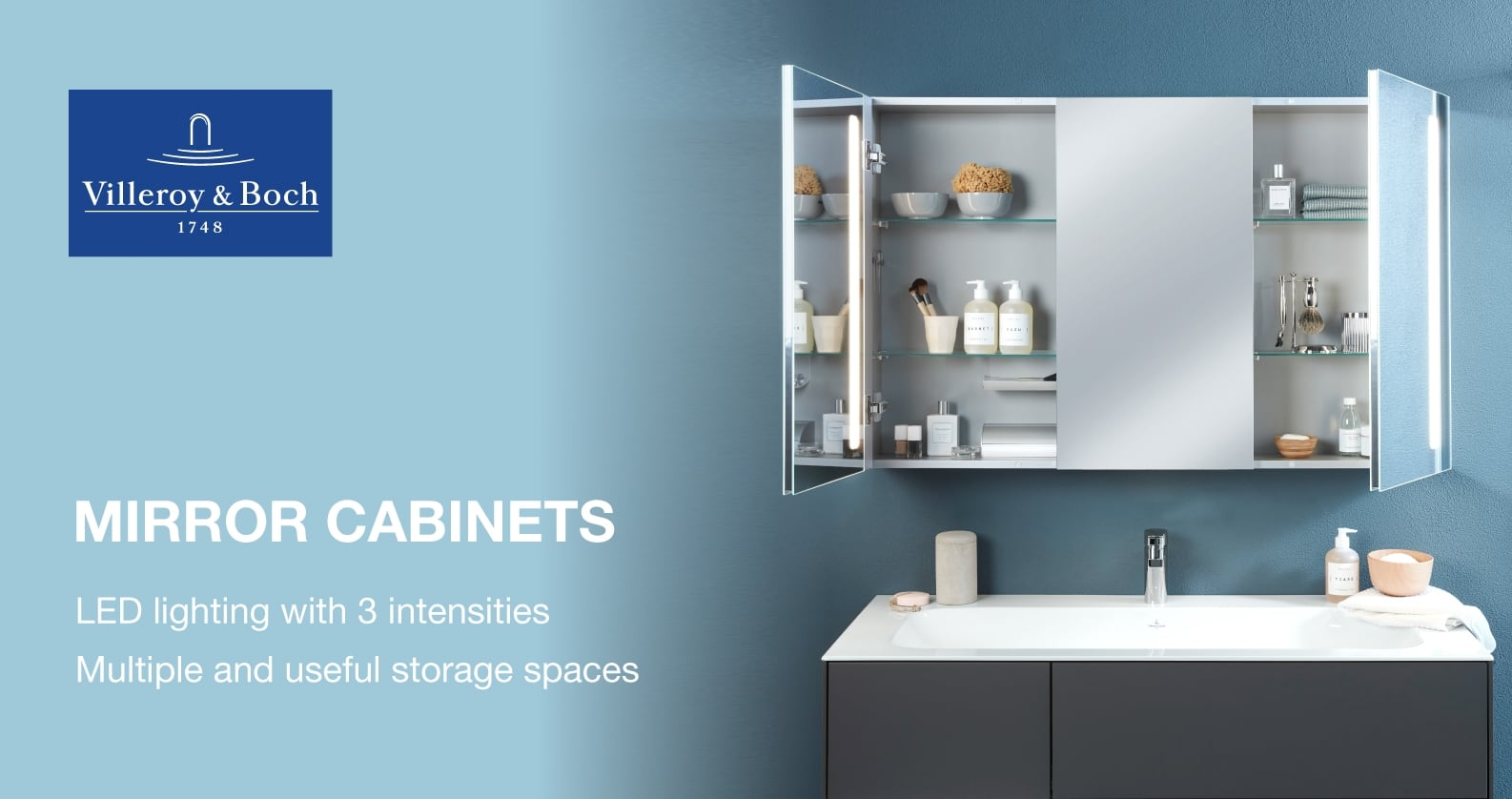 Villeroy & Boch Mirror Cabinets at xTWO