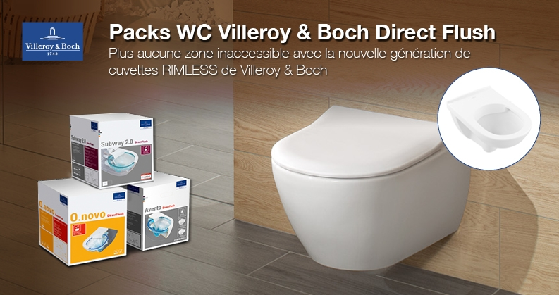 Villeroy & Boch DirectFlush packs WC