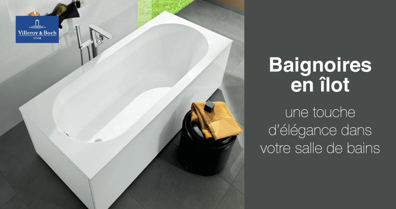 Villeroy & Boch baignoires en îlot